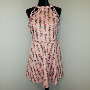 No Boundaries Peach Floral Dress Sz XL NWOT!!